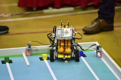 Competição do robô Fotos de Stock Royalty Free