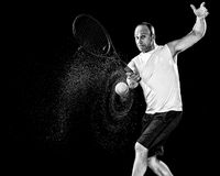 Competição do tênis Action fotografia de stock royalty free