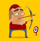 Competição do tiro ao arco Imagem de Stock Royalty Free