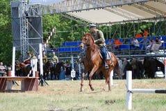 Competição dos cavaleiros do cavalo Fotografia de Stock Royalty Free