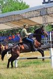 Competição dos cavaleiros do cavalo Fotos de Stock Royalty Free