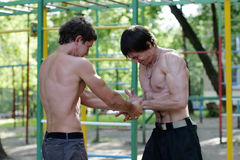 Competição dos músculos da força Fotos de Stock