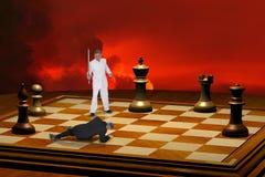 Competição e estratégia intensas Foto de Stock Royalty Free