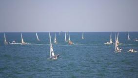 Competição europeia dos veleiros do campeonato Imagem de Stock Royalty Free