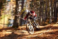 Competição extrema do buke da montanha Fotografia de Stock Royalty Free