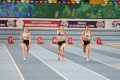 Competição interna do ponto inicial olímpico atlético turco da federação imagens de stock