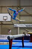 Competição internacional da ginástica artística Fotos de Stock