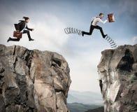 Competição irregular com obstáculo Imagem de Stock