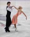 Competição júnior da dança do gelo Foto de Stock Royalty Free