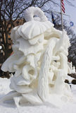 Competição nacional da escultura de neve - lago Genebra, WI Imagem de Stock