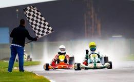 Competição nacional de karting 2010 foto de stock