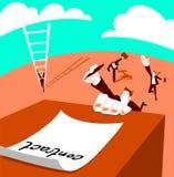 Competição para o contrato ilustração royalty free