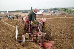 Competição Ploughing do vintage Imagem de Stock