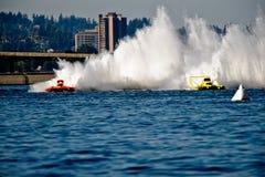Competição próxima Seafair Hydros Fotografia de Stock
