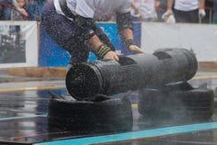 Competições de Powerlifting na rua fotos de stock royalty free