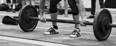 Competições de Powerlifting na rua fotografia de stock royalty free