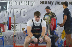 Competições em powerlifting Fotografia de Stock Royalty Free