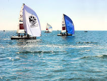 Competições em Sochi no Mar Negro por esportes de água Imagens de Stock Royalty Free