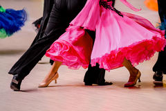 Competições na dança de salão Foto de Stock