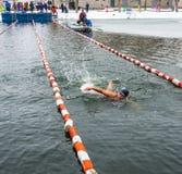 Competições no inverno que nada o 4 de novembro de 2016 na cidade o Imagens de Stock