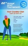 Competiam anual do golfe ilustração stock