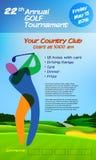 Competiam anual do golfe ilustração do vetor