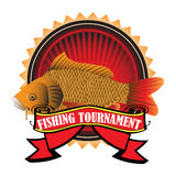 Competiam da pesca ilustração royalty free