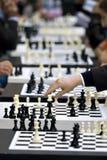 Competiam da xadrez Fotos de Stock