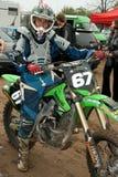 Competiam de Ucrânia a super aos motoÑross Foto de Stock