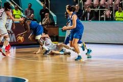 Competiam do basquetebol das meninas, Fotografia de Stock