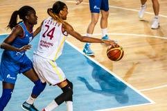 Competiam do basquetebol das meninas, Fotos de Stock Royalty Free