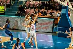 Competiam do basquetebol das meninas, Foto de Stock