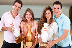 Competiam do bowling Fotografia de Stock Royalty Free