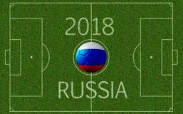 Competiam do futebol do international de Rússia 2018 Imagens de Stock