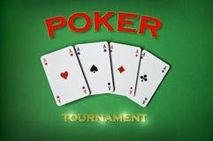 Competiam do póquer Imagem de Stock Royalty Free