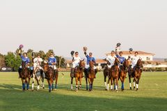 Competiam do polo Imagem de Stock Royalty Free