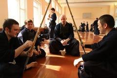 Competiam em Kendo Fotografia de Stock Royalty Free