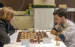 Competiam internacional da xadrez Imagens de Stock Royalty Free