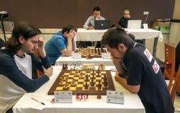 Competiam internacional da xadrez Fotos de Stock