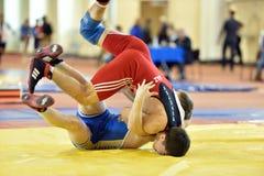 Competiam internacional Victory Day da luta romana de estilo livre em St Petersburg, Rússia Fotos de Stock Royalty Free