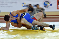 Competiam internacional Victory Day da luta romana de estilo livre em St Petersburg, Rússia Imagem de Stock