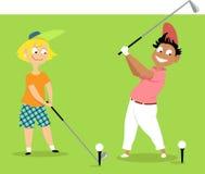 Competiam júnior do golfe ilustração do vetor