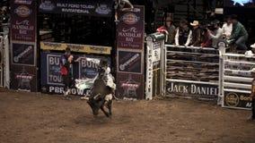 Competiam profissional do cavaleiro de Bull em Madison Square Garden fotografia de stock