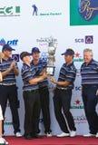 Competiam real do golfe do troféu, Ásia contra Europa 2010 Fotografia de Stock