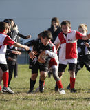 Competiam relativo à promoção do rugby da juventude Imagem de Stock Royalty Free