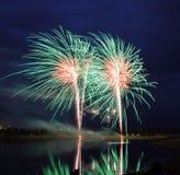 Competición 2008 de los fuegos artificiales Foto de archivo libre de regalías