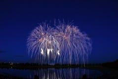 Competición 2008 de los fuegos artificiales fotos de archivo