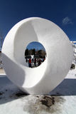 Competición 2012 de la escultura de la nieve de Breckenridge Fotos de archivo libres de regalías