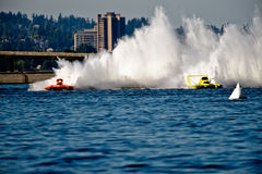 Competición cercana Seafair Hydros Fotografía de archivo