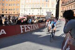 Competición de ciclo el 3 de marzo de 2012 Fotos de archivo libres de regalías